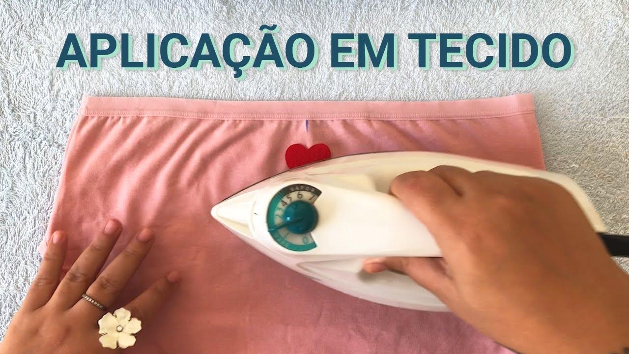 APLICAÇÃO EM TECIDO COM PAPEL TERMOCOLANTE #86