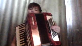 """#4 Урок  на аккордеоне """"Гамма До мажор в л. руке"""""""