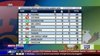 Download Video Klasemen Perolehan Medali Asian Para Games 13 Oktober 2018 MP3 3GP MP4