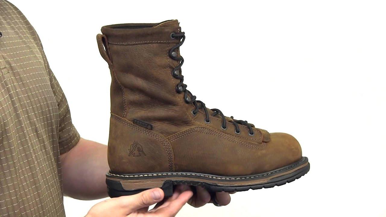 Rocky IronClad Steel Toe Waterproof Work Boot Style# - 6698 - YouTube