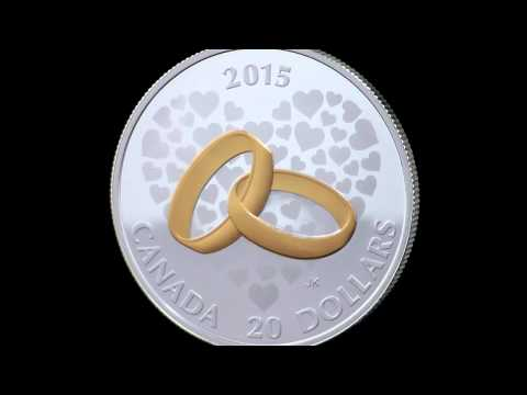 1 oz. Fine Silver Gold-Plated Coin – Wedding
