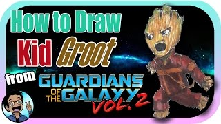 🎨 How to Draw Kid Groot from Guardians of the Galaxy Vol. 2