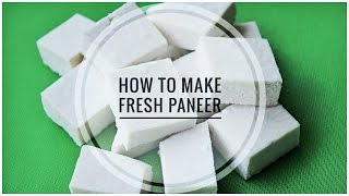 5 मिनट में घर पे पनीर कैसे बनाये | How to make Paneer at home | Simple Method to make Cottage Cheese
