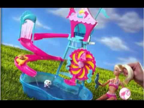Real brinquedos barbie parque aqu tico dos bichinhos for A piscina da barbie