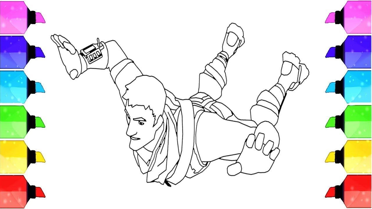 fortnite video game coloring pages warlord  #drawing