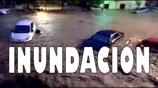 IMPRESIONANTES IMÁGENES DE SANT LLORENÇ  EN MALLORCA, CON EL TORRENTE DESBORDADO