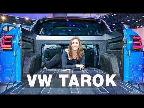 VW Tarok: Picape Volkswagen | Salão do Automóvel 2018 com Giu Brandão