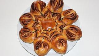 Nutella Blumenbrioche / Nutella Brioche Flower / Brioche au Nutella