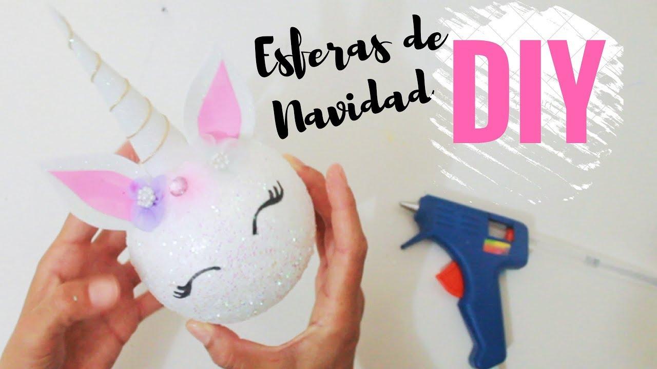 Esferas navide as de unicornio diy decora tu arbol de - Como hacer targetas de navidad ...