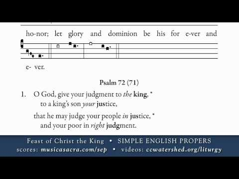 INTROIT • Christ the King • SIMPLE ENGLISH PROPERS