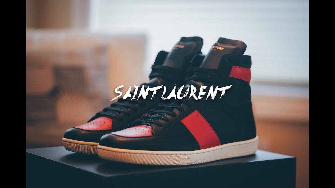saint laurent sl10h on feet