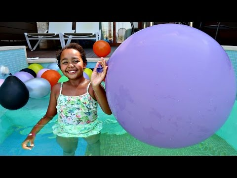 Thumbnail: Giant Balloons Toy Surprise Challenge - Barbie - Shopkins - Minecraft - Animal Jam - Princess Toys