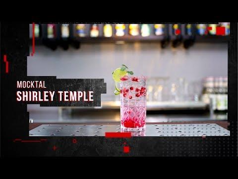 Cách làm Mocktail Shirley Temple không cồn từ Soda, Syrup và hạt lựu | Hướng Nghiệp Á Âu