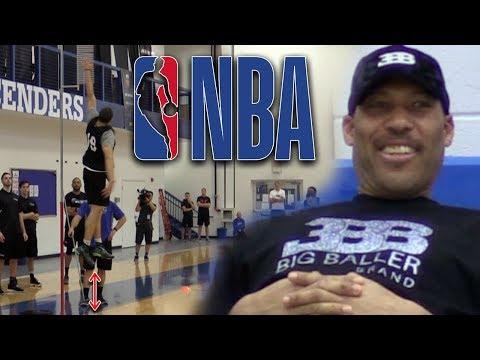 LiAngelo Ball's VERTICAL IMPRESSES LaVar at NBA PRE DRAFT COMBINE! Agility Testing!