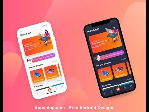 Free Android Education App Design