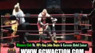 gcw action princeston gainey and mike stratus vs bogie kareem