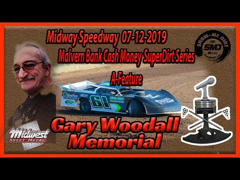 S03➜E337 Gary Woodall Memorial A- Main Cash Money Late Models Lebanon Midway Speedway 07-12-2019