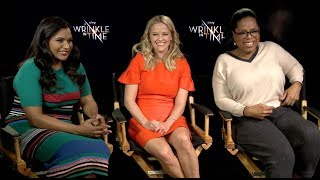 A WRINKLE IN TIME interviews - Oprah, Witherspoon, Kaling, Pine, Mbatha-Raw, Duvernay, Reid