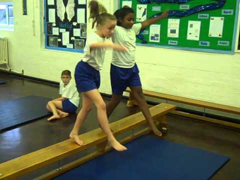 Primary school balance and counterbalance routine 2