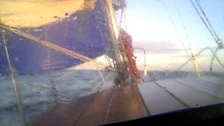 Halycon 27 crossing Humber Estuary heading for Norfolk