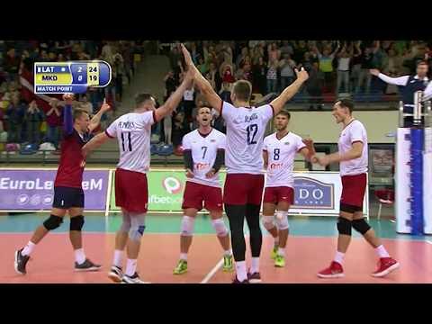 LATVIA 3-0 MACEDONIA / CEV Volleyball Silver European League - Men