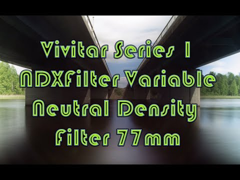 Vivitar Series 1 NDX Filter Variable Neutral Density Filter 77mm // Photography test