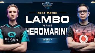 Lambo vs HeroMarine ZvT - Round of 8 - WCS Winter Europe