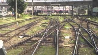 Intrare in Gara de Nord Bucuresti din cabina mecanicului de tren Sageata Albastra (www.buhnici.ro)