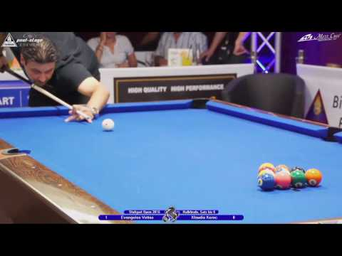 Stuttgart Open 2016, No. 25, 1/2 Final, Evangelos Vettas vs. Klaudio Kerec, 10-Ball, Pool-Billard