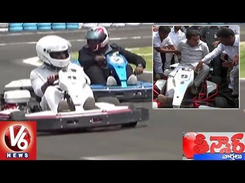 Minister KTR Inaugurates Go-Karting Playground In Gurramguda   Teenmaar  News   V6 News