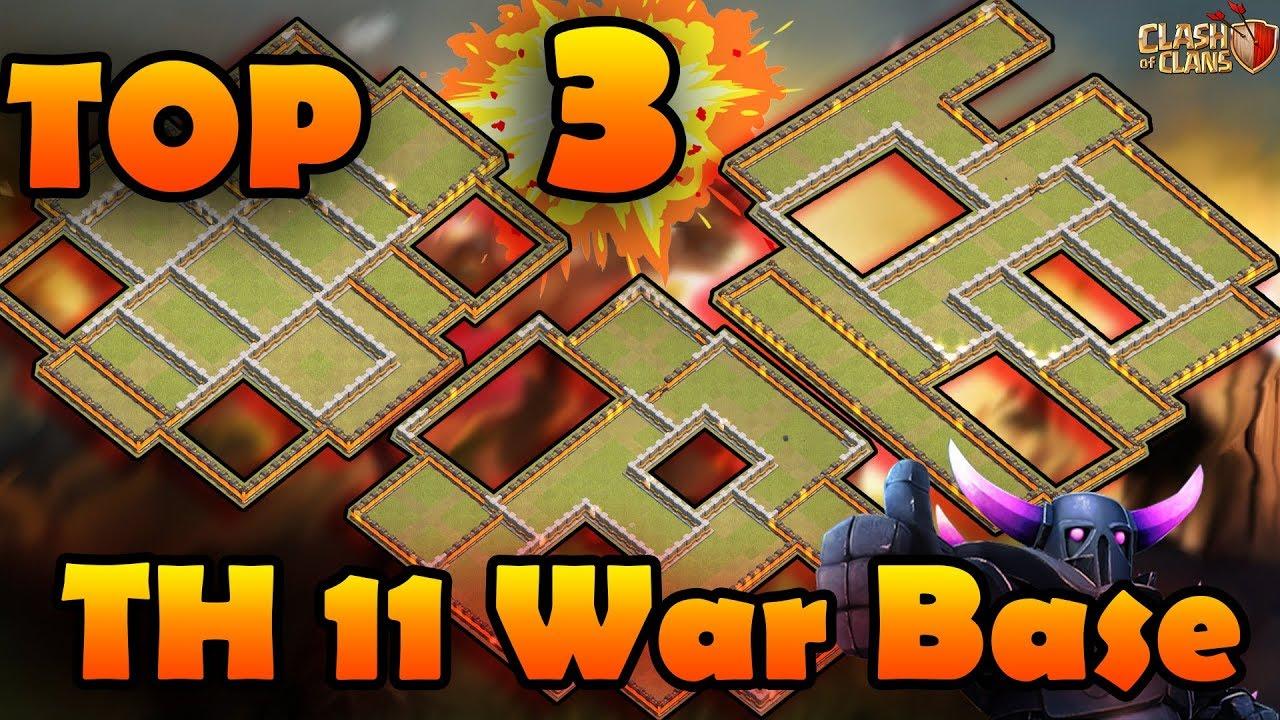 TOP 3 NEW TH11 WAR BASE 2018 (Layout)BEST TOWN HALL 11 WAR BASE  ANTI 2  STAR/ANTI 3 STAR