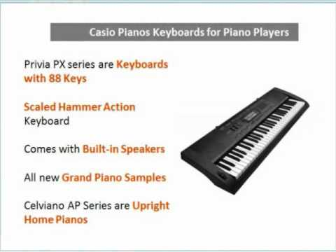 Casio Keyboard Reviews - Guide to Casio Pianos & Keyboards