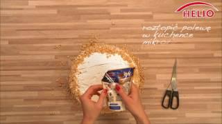 Szybki przepis z masą orzechową HELIO: tort orzechowy