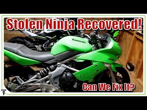 Stolen Bike Recovered! | Can We Fix It? - Ride Rehab: Ninja 650 ep1