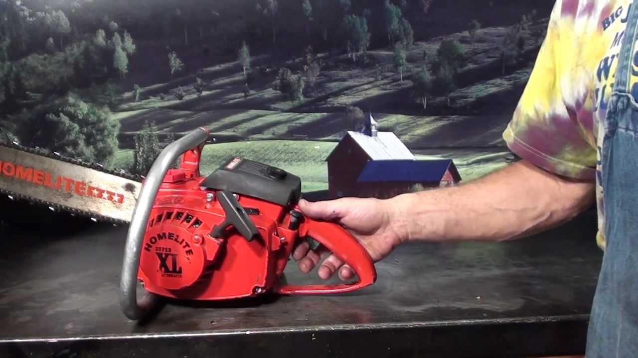 The chainsaw guy shop talk Homelite Super XL Chainsaw 8 20