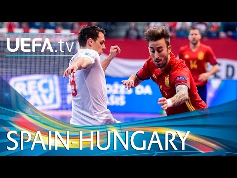 Futsal EURO highlights: Spain goals against Hungary