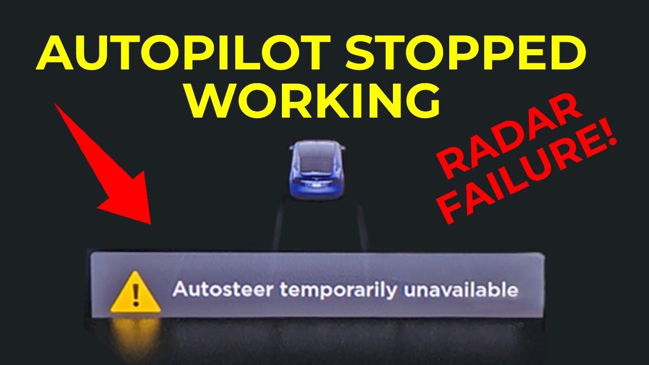 Tesla Autopilot Stopped Working - Radar Fail & Fix