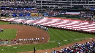 PHI@TEX: Symphony Orchestra performs national anthem