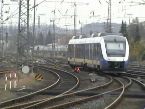 Eurobahn Ein- und Ausfahrt Bahnhof Hameln nach Bodenburg