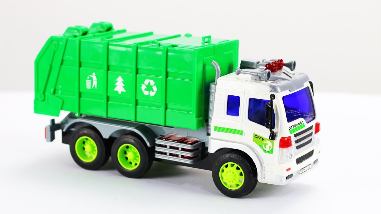 garbage truck videos for children garbage truck toys part 1 youtube. Black Bedroom Furniture Sets. Home Design Ideas