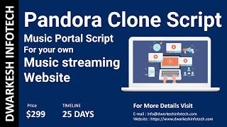 Pandora clone script: Online music streaming website,Music portal script for Music startup [2018]