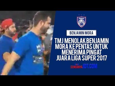 TMJ menolak Benjamin Mora ke pentas untuk menerima pingat juara Liga Super 2017