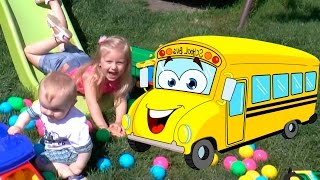 Little Babies Playing With Balls / The Wheels on The Bus / Baby Nursery Rhymes Song