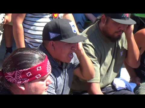 Meskwaki Nation - Back to Back Song 1 in Mandaree July 14, 2017