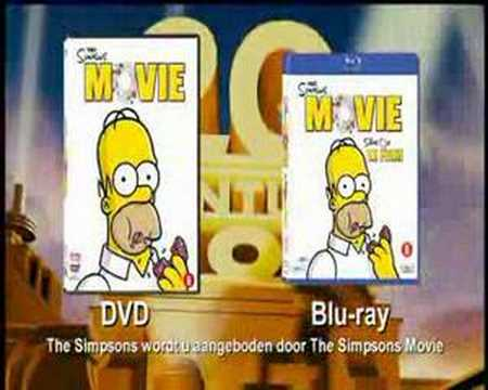 The Simpsons Movie Now On Dvd Youtube