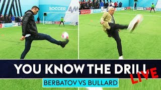 Dimitar Berbatov vs Jimmy Bullard | How's Your Touch? Challenge | You Know The Drill LIve!