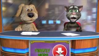 Talking Tom & Ben News singing blue eyes