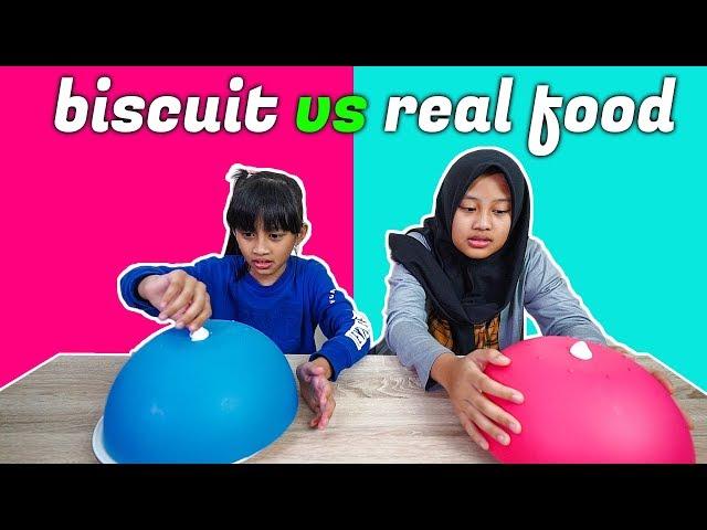 Biscuit vs Real Food Challenge