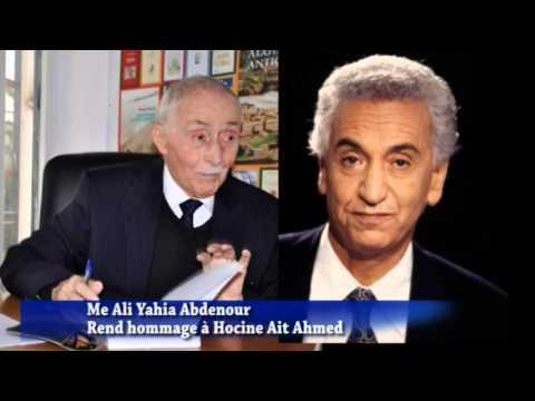 Décès de Me Ali Yahia Abdennour, combattant acharné et exemplaire pour les  droits de l'Homme - 24H Algérie - Infos - vidéos - opinions.