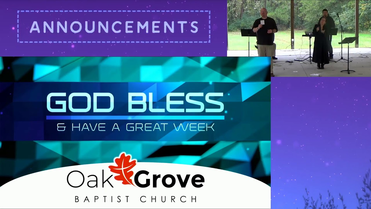 Sunday Morning Worship at the OGBC Drive-In (Nov. 1, 2020)